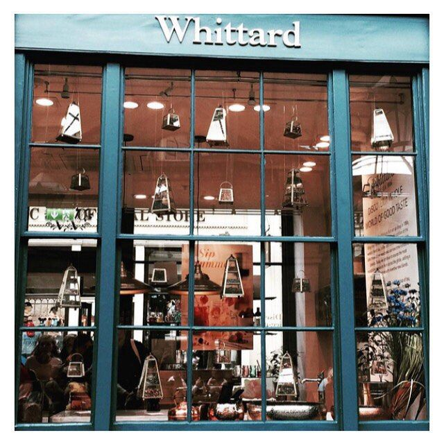 Whittard of Chelsea Covent Garden store, snapped by @olivegrover on Instagram.