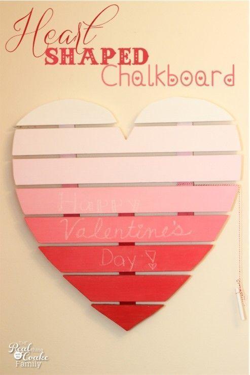 Heart Shaped Chalkboard + MORE Valentine Decoration Ideas