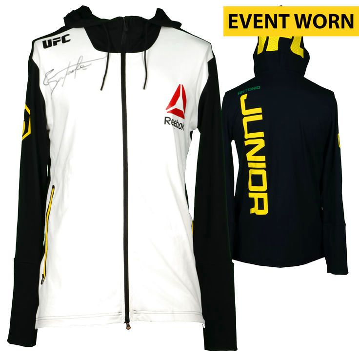Antonio Junior Ultimate Fighting Championship Fanatics Authentic Autographed UFC Fight Night: Namajunas vs. VanZant Event-Worn Walkout Hoodie - Fought Kevin Casey in a Middleweight Bout - $199.99