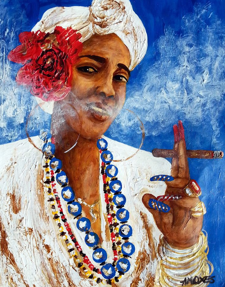The woman of old Havana Acrylics on paper 11x14 inches