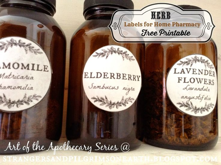 Apothecary Herb Labels {Free Printable} ~ Home Pharmacy Series