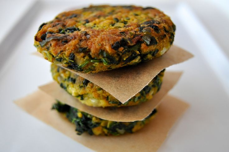 Curry Spinach and Chickpea Fritters