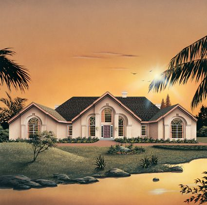 Southwestern Home Plan With 3814 Square Feet 3 Bedroom 2