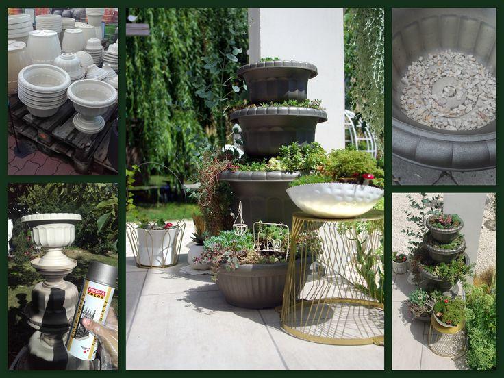 make a succulent fountain!