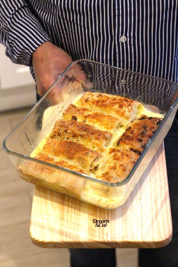 Crepes de Atum, Legumes e Queijo no Forno