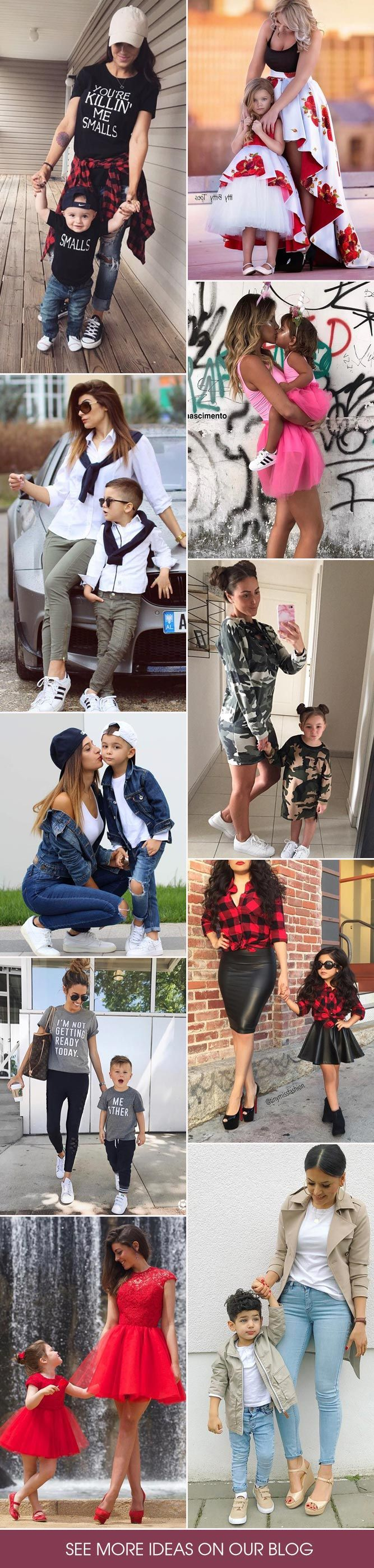 Mommy and me outfits - just try it once and you will not be able to stop, at least until your little copy grows old enough to make his or her own decisions.