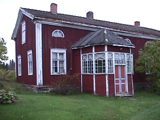 Kälviä's old houses Riihimäki. Central Ostrobothnia province of Western Finland - Keski-Pohjanmaa