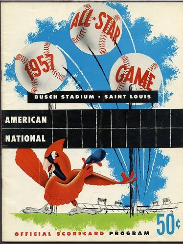 1957 All Star Game Program St Louis Cardinals Host Scored | eBay