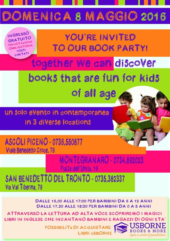 Arriva l'English Book Party Usborne per i bambini