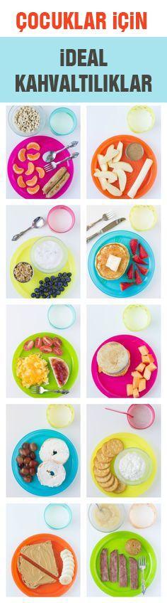 Sağlıklı çocuk kahvaltıları!Çalışan anneler de çocuklarına hızlı ve sağlıklı kahvaltılar hazırlayabilir.
