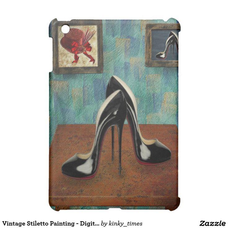 Vintage Stiletto Painting - Digital Art iPad Mini Covers