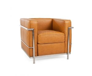 LC-2 Petit Full Leather Arm Chair - Inspired By Designs of Le Corbusier