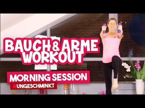 Bauchmuskeltraining & straffe Arme für zuhause | Morning Session #ungeschminkt | VERONICA-GERRITZEN - YouTube