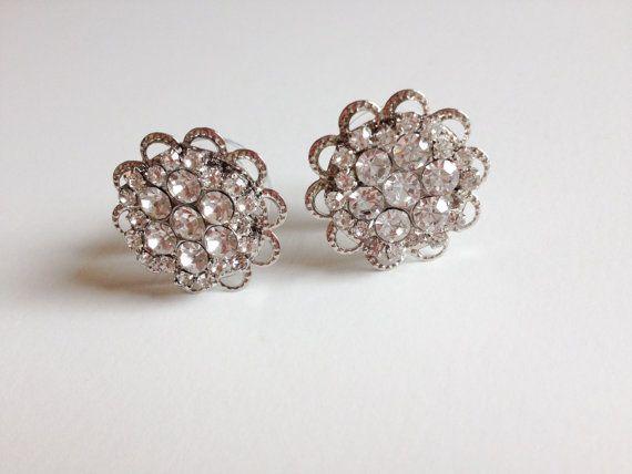 """Bridal Plugs, 00g Plugs, 1/2"""" Rhinestone Flower Plugs, Formal Gauges 9/16"""" Wedding Plugs Gauged Earrings Body Piercing"""