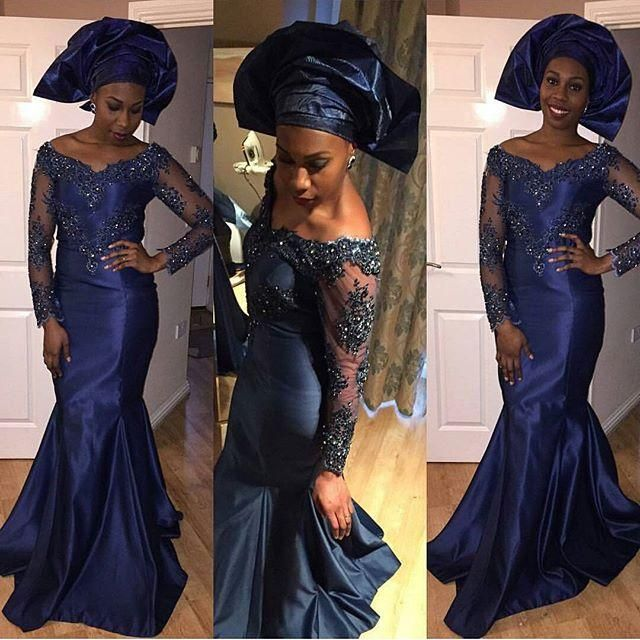 Evening Dresses For Girls 2016 Dark Navy Arabic Dresses Celebrity Evening Wear Off Shoulder Long Sleeves Mermaid Prom Wedding Party Gowns Lace Applique Beads Evening Dresses For Larger Ladies From Marrysa, $118.08| Dhgate.Com