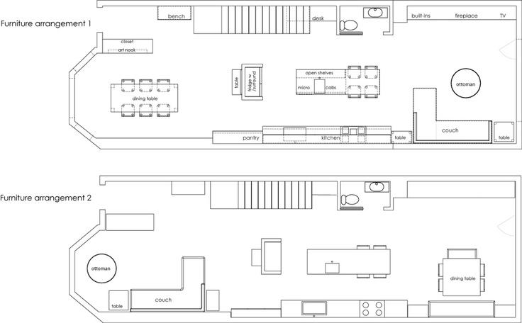2D plans for furniture re-arrangments