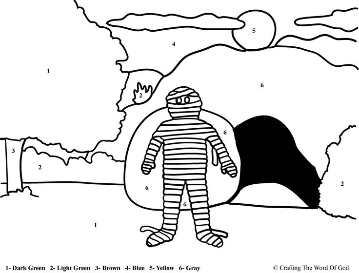 Lazarus Raised From The Dead (Color By Number) Coloring pages are a great way to end a Sunday School lesson. They can serve as a great take home activity. Or sometimes you just need to fill in thos...