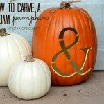Ampersand Pumpkin- Foam Pumpkins with Ampersands carved into them.