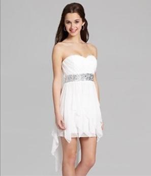 8th grade dance dresses white black