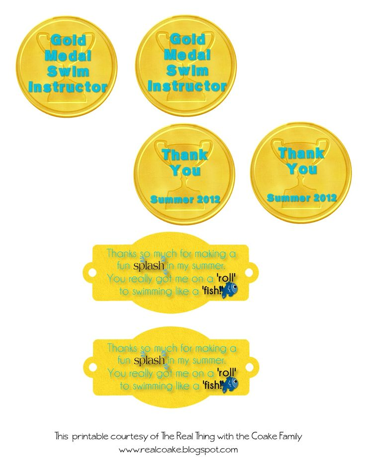 Swimming Like Fishies! Swim Instructor Gift {Printable}