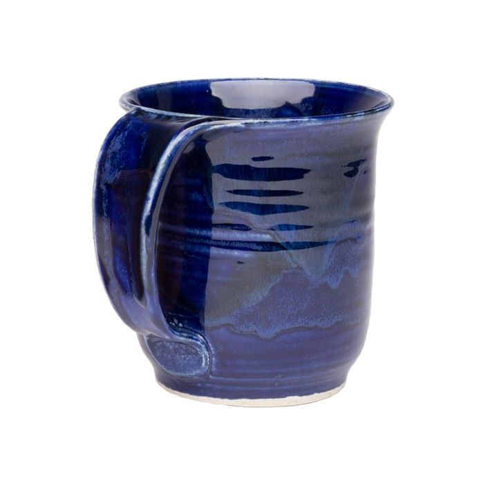 This mug will become your go-to mug Also makes a great housewarming gift! Holds 355 ml 12 oz of your favourite hot or cold beverage 4 5 tall x 3 75 wide All of our stoneware is high fired making it oven microwave and dishwasher safe Pattern placement and colour may have slight variations as each mug is