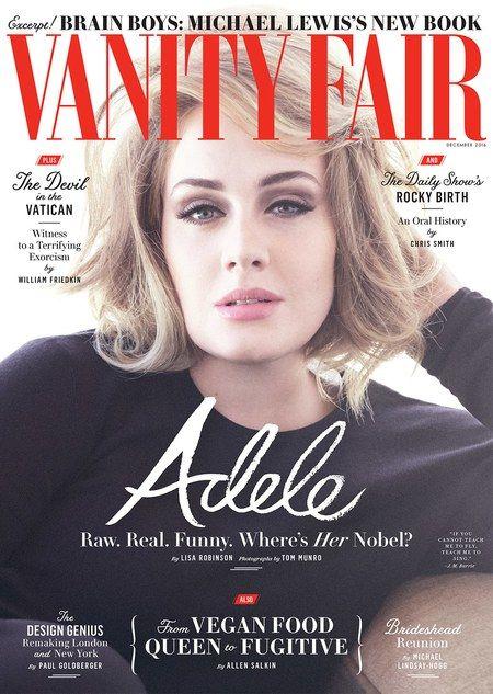 Adele in Vanity Fair US December 2016 issue