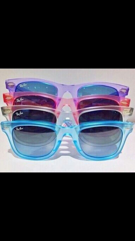 Clear Colored Ray Ban