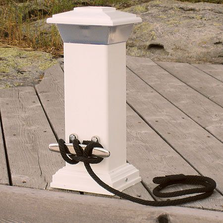 Overton's : Dock Edge Solar Dock Light With Stainless Steel Cleat - Anchor & Docking > Dock Lighting : Boat Mooring Equipment, Boat Dock Supplies, Parts, Docking Accessories