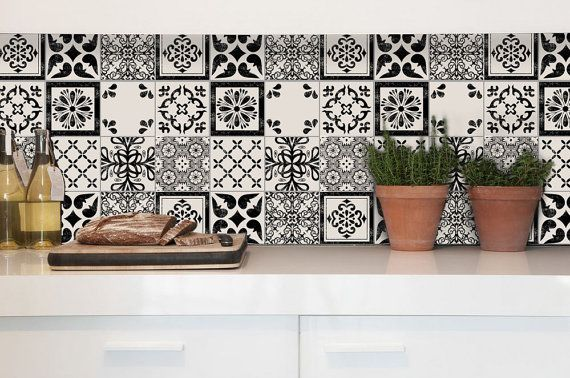 Tile Decals  Tiles for Kitchen/Bathroom Back splash by QUADROSTYLE