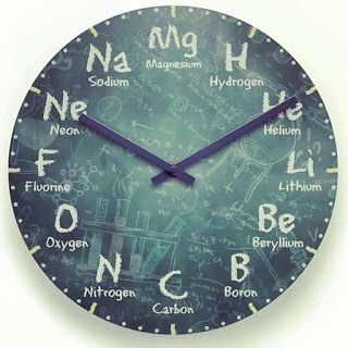 A perfect clock for a chemistry lover