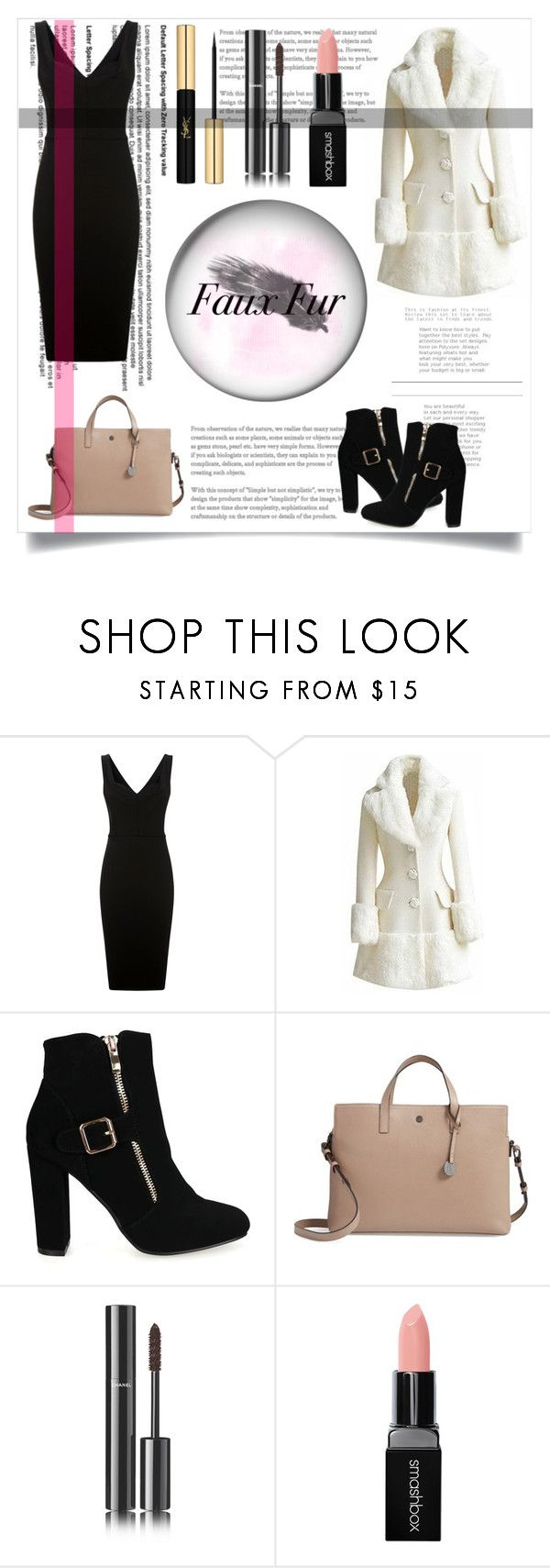 """Fur kind."" by sara-gill-at-gurdevsinghgill95 on Polyvore featuring Victoria Beckham, Lodis, Chanel, Smashbox and Yves Saint Laurent"
