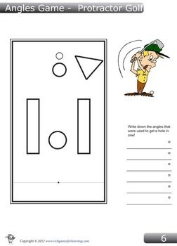 A printable workbook with 15 mini-golf course with 3 templates for students to create their own courses with.This angles game is a fun and engagi...
