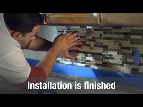 Family Dollar Store Magic Gel Tile Kitchen Wall Makeover Youtube Money Budgets Pinterest