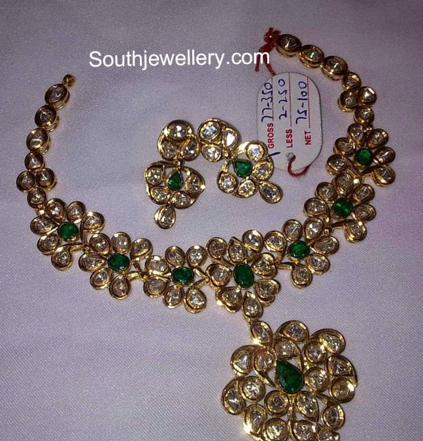 Latest Simple Pacchi Necklace Sets - Jewellery Designs