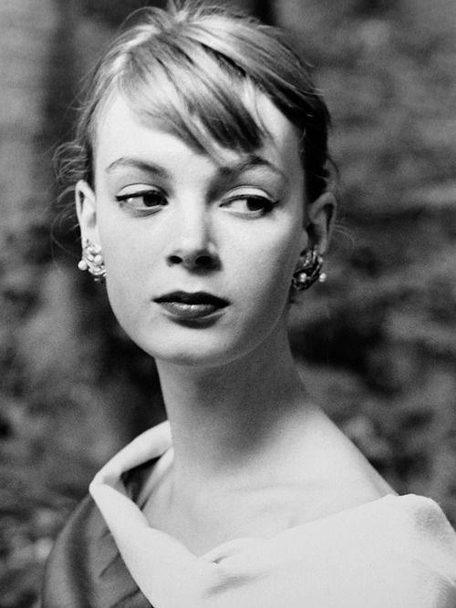 Model Nena von Schlebrügge (Uma Thurman's mother); one of the first test shots of Missvon Schlebrüggeby Norman Parkinson; Stockholm, 1955....