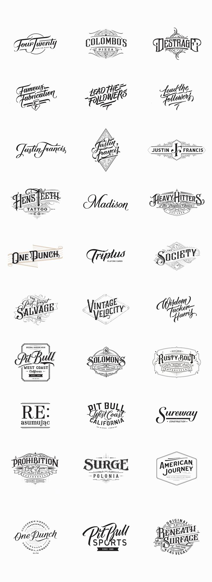 Handlettered Logotypes, Set 4, 2014-2015