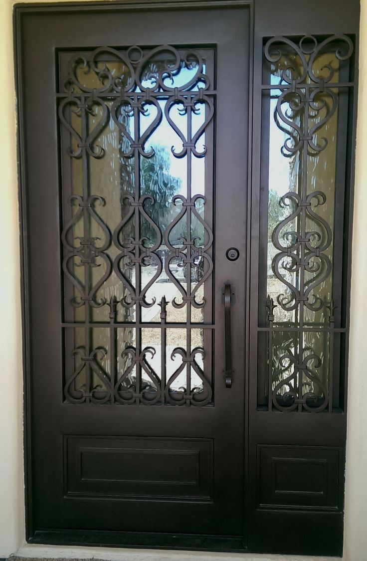 Metal front doors with sidelights - Vmw Is Arizona S Leading Manufacturer Of Custom Wrought Iron Entry Doors With Sidelights For Homes In
