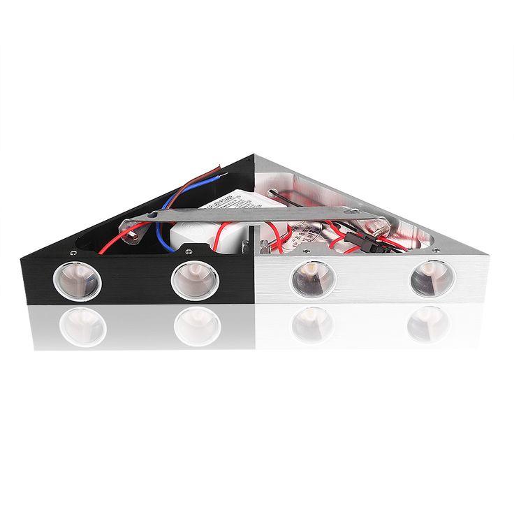 5 W De Aluminio Triángulo AC90-265V Led de Alta Potencia de Iluminación Casera Moderna Lámpara de Pared Llevada de Interior Al Aire Libre Partido de la Bola de Discoteca Luz