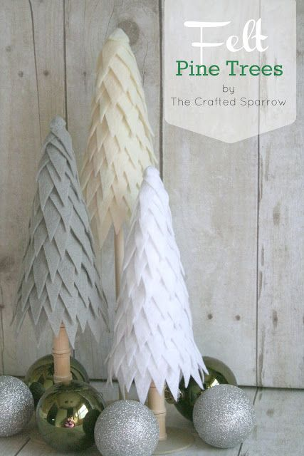 The Crafted Sparrow: Felt Pine Trees: