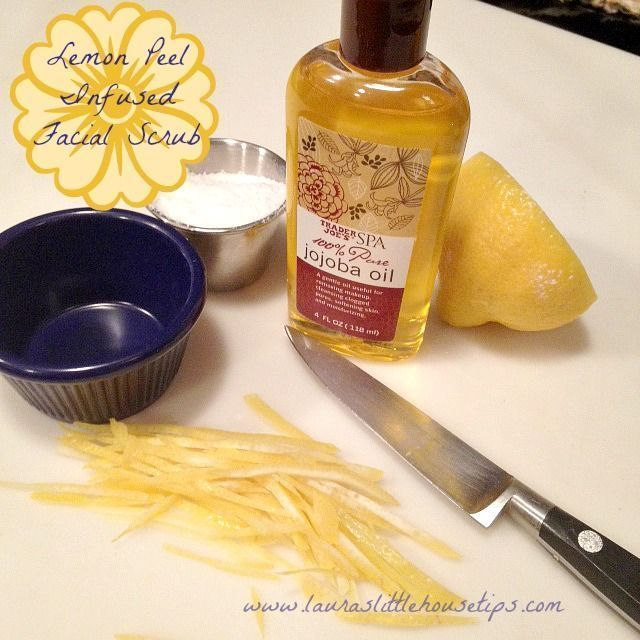 Zitronenschale infundiert Gesichtspeeling DIY BeautyBlog #MakeupOfTheDay #MakeupByMe #Mak …