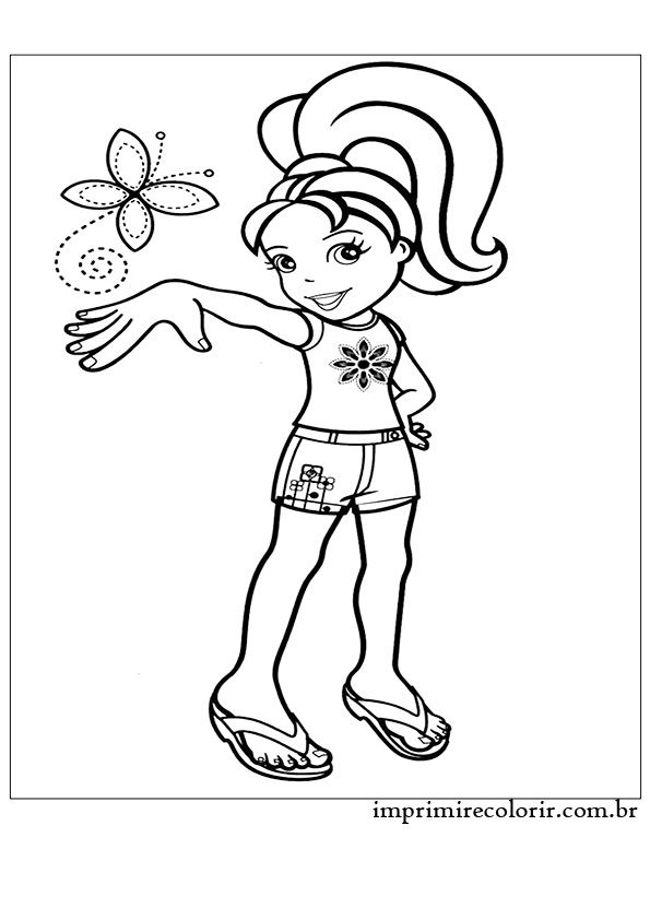 Polly No Verao Desenho Da Polly Desenhos Paginas Para Colorir