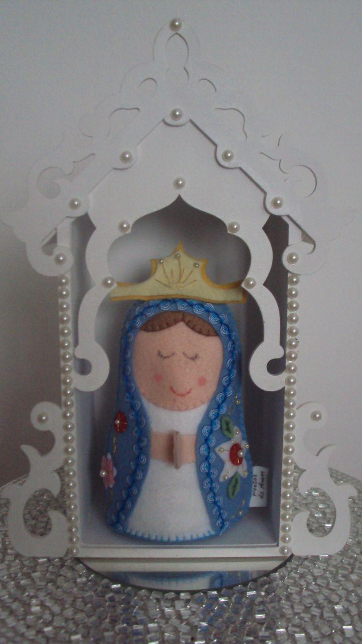 Oratório + Nossa Senhora, encomendas da Nana... Mais informações, orçamento, encomendas pelo e-mail: manuellarcampos@yahoo.com.br