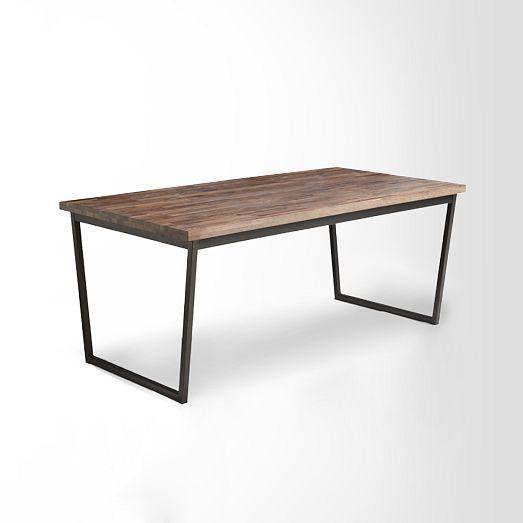 oblique dining table west elm decor pinterest. Black Bedroom Furniture Sets. Home Design Ideas