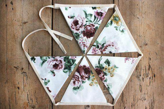 Pretty 'Vera' Floral Bunting / Banner / by annasbluebellblue