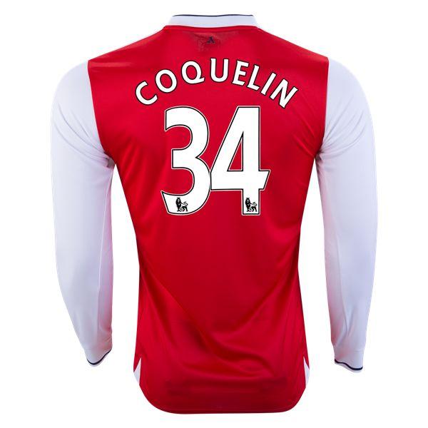 PUMA Francis Coquelin Arsenal Long Sleeve Home Jersey 16/17