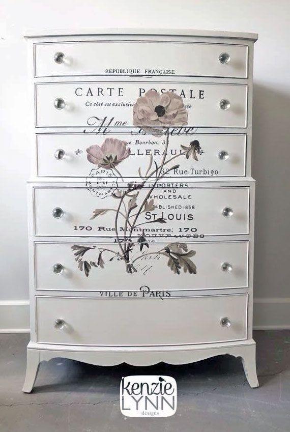 Antique White Dresser With Transfer General Finishes Design Center
