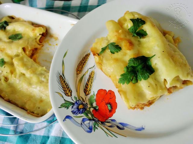 Gotowanie...to proste!: Cannelloni Z Mięsem Mielonym I Beszamelem