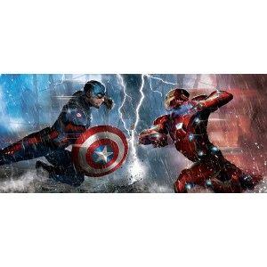 Szuperhősök gyerek poszter, Vasember vs bosszúállók (202 cm x 90 cm)