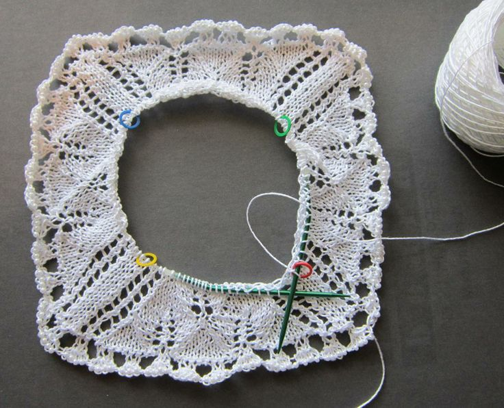 Rate of Decrease for a Circularly-knitted Square