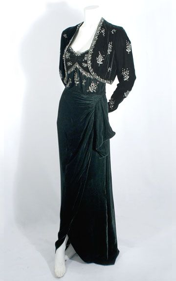 Prom Dress Evening Gown 1940s